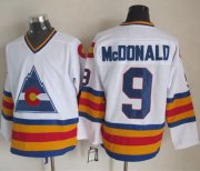 Wholesale Avalanche #9 Lanny McDonald White CCM Throwback Stitched NHL Jersey