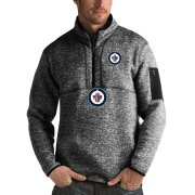 Wholesale Cheap Winnipeg Jets Antigua Fortune Quarter-Zip Pullover Jacket Charcoal