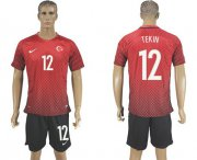 Wholesale Cheap Turkey #12 Tekin Home Soccer Country Jersey