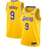Cheap Lakers #9 Rajon Rondo Gold Youth Basketball Swingman Icon Edition Jersey