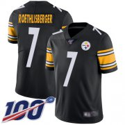 Wholesale Cheap Nike Steelers #7 Ben Roethlisberger Black Team Color Men's Stitched NFL 100th Season Vapor Limited Jersey