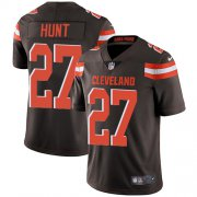 Wholesale Cheap Nike Browns #27 Kareem Hunt Brown Team Color Men's Stitched NFL Vapor Untouchable Limited Jersey