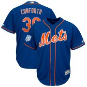 Wholesale Cheap Mets #30 Michael Conforto Blue 2019 Spring Training Cool Base Stitched MLB Jersey