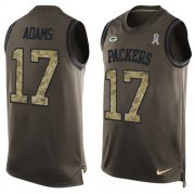 Wholesale Cheap Nike Packers #17 Davante Adams Green Men's Stitched NFL Limited Salute To Service Tank Top Jersey