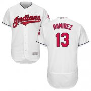 Wholesale Cheap Indians #13 Hanley Ramirez White Flexbase Authentic Collection Stitched MLB Jersey