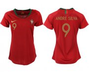 Wholesale Cheap Women's Portugal #9 Andre Silva Home Soccer Country Jersey