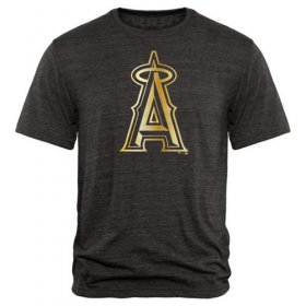 Wholesale Cheap Los Angeles Angels of Anaheim Gold Collection Tri-Blend T-Shirt Black