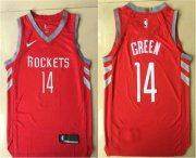 Wholesale Cheap Men's Houston Rockets #14 Gerald Green New Red 2017-2018 Nike Authentic Printed NBA Jersey