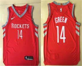 Wholesale Cheap Men\'s Houston Rockets #14 Gerald Green New Red 2017-2018 Nike Authentic Printed NBA Jersey