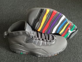 Wholesale Cheap Air Jordan 10 Retro Rainbow Sole Wolf Grey
