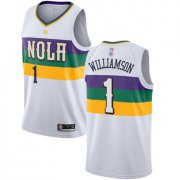 Cheap Youth Pelicans #1 Zion Williamson White Basketball Swingman City Edition 2018-19 Jersey