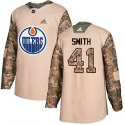 Wholesale Cheap Adidas Oilers #41 Mike Smith Camo Authentic 2017 Veterans Day Stitched Youth NHL Jersey