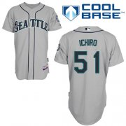 Wholesale Mariners #51 Ichiro Suzuki Grey Cool Base Stitched Baseball Jersey