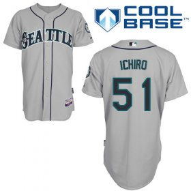 Wholesale Cheap Mariners #51 Ichiro Suzuki Grey Cool Base Stitched MLB Jersey