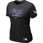 Wholesale Cheap Women's Tampa Bay Rays Nike Short Sleeve Practice MLB T-Shirt Black