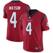 Wholesale Cheap Nike Texans #4 Deshaun Watson Red Alternate Men's Stitched NFL Vapor Untouchable Limited Jersey