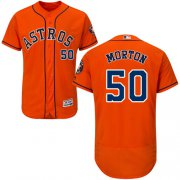 Wholesale Cheap Astros #50 Charlie Morton Orange Flexbase Authentic Collection Stitched MLB Jersey