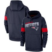 Wholesale Cheap New England Patriots Nike Sideline Team Logo Performance Pullover Hoodie Navy