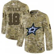 Wholesale Cheap Adidas Stars #18 Tyler Pitlick Camo Authentic Stitched NHL Jersey