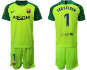 Wholesale Cheap Barcelona #1 Ter Stegen Green Goalkeeper Soccer Club Jersey