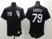 Wholesale Cheap White Sox #79 Jose Abreu Black Flexbase Authentic Collection Stitched MLB Jersey