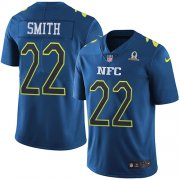 Wholesale Cheap Nike Vikings #22 Harrison Smith Navy Youth Stitched NFL Limited NFC 2017 Pro Bowl Jersey