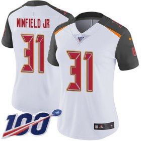 Wholesale Cheap Nike Buccaneers #31 Antoine Winfield Jr. White Women\'s Stitched NFL 100th Season Vapor Untouchable Limited Jersey