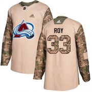 Wholesale Cheap Adidas Avalanche #33 Patrick Roy Camo Authentic 2017 Veterans Day Stitched Youth NHL Jersey