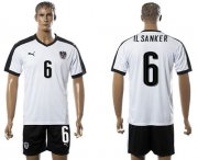 Wholesale Cheap Austria #6 IlSanker White Away Soccer Country Jersey
