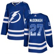 Wholesale Cheap Adidas Lightning #27 Ryan McDonagh Blue Home Authentic Drift Fashion Stitched NHL Jersey