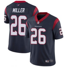 Wholesale Cheap Nike Texans #26 Lamar Miller Navy Blue Team Color Men\'s Stitched NFL Vapor Untouchable Limited Jersey