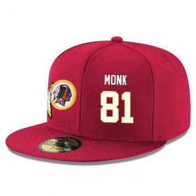 Wholesale Cheap Washington Redskins #81 Art Monk Snapback Cap NFL Player Red with White Number Stitched Hat