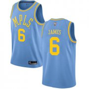 Cheap Youth Lakers #6 LeBron James Royal Blue Basketball Swingman Hardwood Classics Jersey