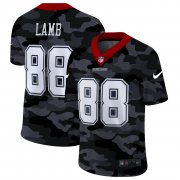 Cheap Dallas Cowboys #88 CeeDee Lamb Men's Nike 2020 Black CAMO Vapor Untouchable Limited Stitched NFL Jersey
