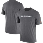 Wholesale Cheap Denver Broncos Nike Sideline Seismic Legend Performance T-Shirt Charcoal