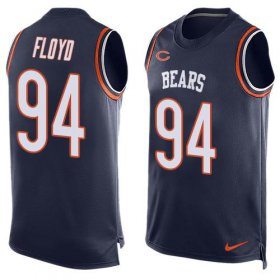 Wholesale Cheap Nike Bears #94 Leonard Floyd Navy Blue Team Color Men\'s Stitched NFL Limited Tank Top Jersey
