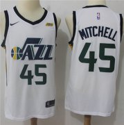 Wholesale Cheap Nike Jazz #45 Donovan Mitchell White NBA Swingman Association Edition Jersey