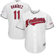 Wholesale Cheap Cleveland Indians #11 Jose Ramirez Majestic Home 2019 All-Star Game Patch Cool Base Player Jersey White