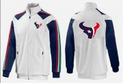 Wholesale Cheap NFL Houston Texans Team Logo Jacket White_2