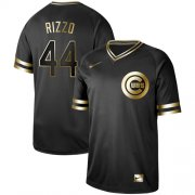 Wholesale Cheap Nike Cubs #44 Anthony Rizzo Black Gold Authentic Stitched MLB Jersey