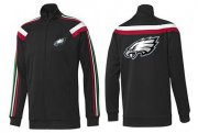Wholesale Cheap NFL Philadelphia Eagles Team Logo Jacket Black_3