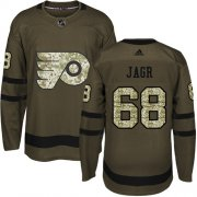 Wholesale Cheap Adidas Flyers #68 Jaromir Jagr Green Salute to Service Stitched NHL Jersey
