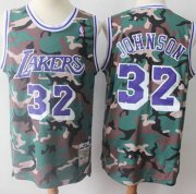 Wholesale Cheap Swingman Lakers #32 Magic Johnson Camo Stitched Basketball Jersey