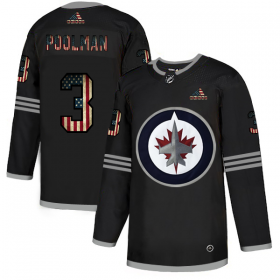 Wholesale Cheap Winnipeg Jets #3 Tucker Poolman Adidas Men\'s Black USA Flag Limited NHL Jersey