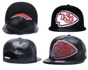 Wholesale Cheap NFL Kansas City Chiefs Team Logo Black Reflective Adjustable Hat A65