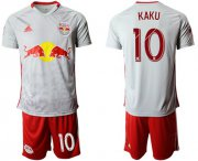Wholesale Cheap Red Bull #10 Kaku White Home Soccer Club Jersey