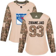 Wholesale Cheap Adidas Rangers #93 Mika Zibanejad Camo Authentic 2017 Veterans Day Women's Stitched NHL Jersey