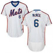 Wholesale Cheap Mets #6 Jeff McNeil White(Blue Strip) Flexbase Authentic Collection Alternate Stitched MLB Jersey