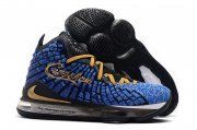 Wholesale Cheap Nike Lebron James 17 Air Cushion Shoes Black Blue Gold