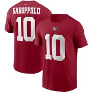 Wholesale Cheap San Francisco 49ers #10 Jimmy Garoppolo Nike Team Player Name & Number T-Shirt Scarlet